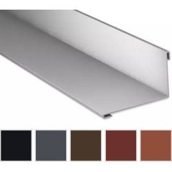 Wandanschluss - Stahl - 2000 x 160 x 115mm - 95° - 0,50mm Stärke - 35µm Mattpolyester