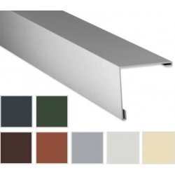 Aussenecke - Stahl -  2450 x 115 x  115mm - 90° - 0,75mm Stärke - 25 µm Polyester