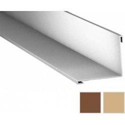 Innenecke - Stahl - 2000 x 115 x 115mm - 90° - 0,50mm Stärke - 35µm Strukturpolyester - Holzoptik