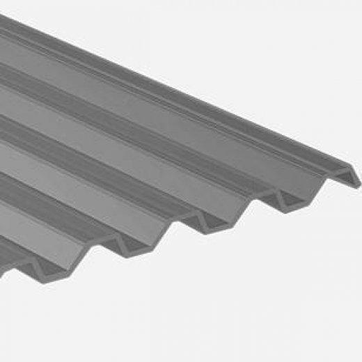 ACRYL Lichtplatte - Struktur C - Trapez 76/18 - Stärke 2,5mm - perlgrim / anthrazit grau - perlgrim / anthrazit grau