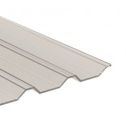 PC Lichtplatte - Struktur glatt - Trapez 137,5/20 - Stärke 1,0mm - glasklar / transparent