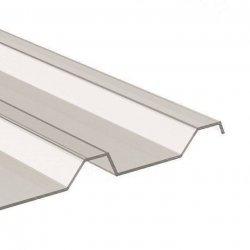 PC Lichtplatte - Struktur glatt - Trapez 207/35 - Stärke 1,0mm - glasklar / transparent