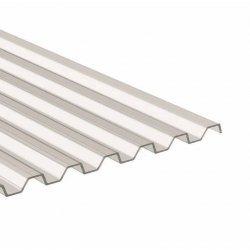 PC Lichtplatte - Struktur glatt - Trapez 76/18 - Stärke 0,9mm - glasklar / transparent