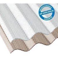 ACRYL Lichtplatte - Struktur Wabe - Sinus 76/18 - Stärke 3,0mm - glasklar / transparent - glasklar / transparent