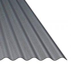 ACRYL Lichtplatte - Struktur Wabe - Sinus 76/18 - Stärke 4,5mm - perlgrim / anthrazit grau