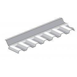 Montagezubehör - PC Wandanschluss - Trapez 76/18 - 1260x150x150mm - glasklar / transparent