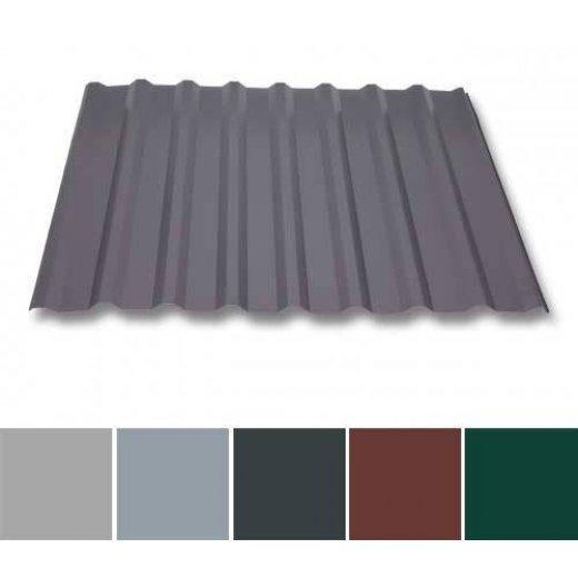 Trapezblech Aluminium - Dachprofil W20/1100 - 0,70mm Stärke - 25 µm Polyester - Aluminium