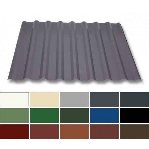 Trapezblech Stahl - Dachprofil W20/1100 - 0,50mm Stärke - 25 µm Polyester - Stahl