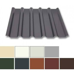 Trapezblech Stahl - Dachprofil W35/1070 - 0,63mm Stärke - 25 µm Polyester
