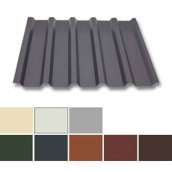 Trapezblech Stahl - Dachprofil W35/1070 - 0,75mm Stärke - 25 µm Polyester