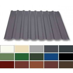 Trapezblech Stahl - Wandprofil W20/1100 - 0,50mm Stärke - 25 µm Polyester