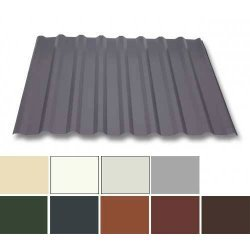 Trapezblech Stahl - Wandprofil W20/1100 - 0,63mm Stärke - 25 µm Polyester