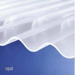 PC Wellplatte - unstrukturiert - Opal / weiss
