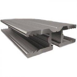 ALU - H Abschlussprofil - 6100mm Länge - 6mm Stärke - pressblank / alu-natur