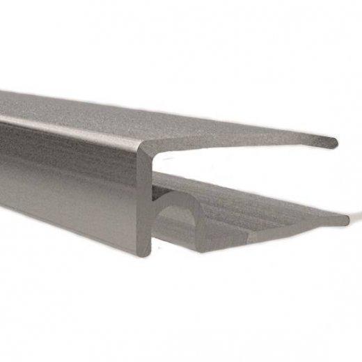 ALU - U Abschlussprofil - 6100mm Länge - 6mm Stärke - pressblank / alu-natur - Zubehör - ALU Profile