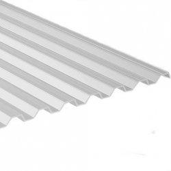 PC Lichtplatte - Struktur glatt - Trapez 76/18 - Stärke 0,9mm - opal / weiss