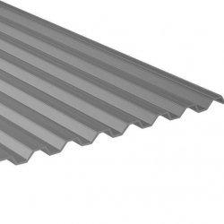 PC Lichtplatte - Struktur glatt - Sinus 76/18 - Stärke 1,1mm - Athermic / silbermetallic