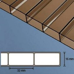 Acryl Doppelstegplatten - 16mm - Bronze / braun