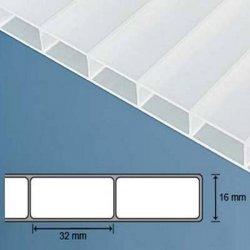 Acryl Doppelstegplatten - 16mm - Opal / weiass