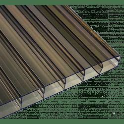 PC Dreifachstegplatten - unstrukturiert - 16mm - Bronze / braun