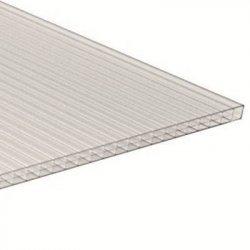 PC Dreifachstegplatte - Struktur glatt - 1200mm breite - 16mm Stärke - glasklar / transparent
