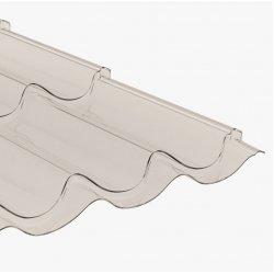 Polycarbonat - Strutkur Pfanne - klarglas / transparent