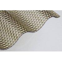 ACRYL Lichtplatte - Struktur Wabe - Sinus 76/18 - Stärke 3,0mm - bronze / braun - bronze / braun