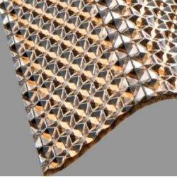 PC Lichtplatte - Struktur Wabe - Sinus 76/18 - Stärke 2,8mm - bronze / braun